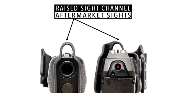 Raised Sight Channel - Aftermarket Sights